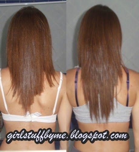 Extensões de cabelo, antes e depois