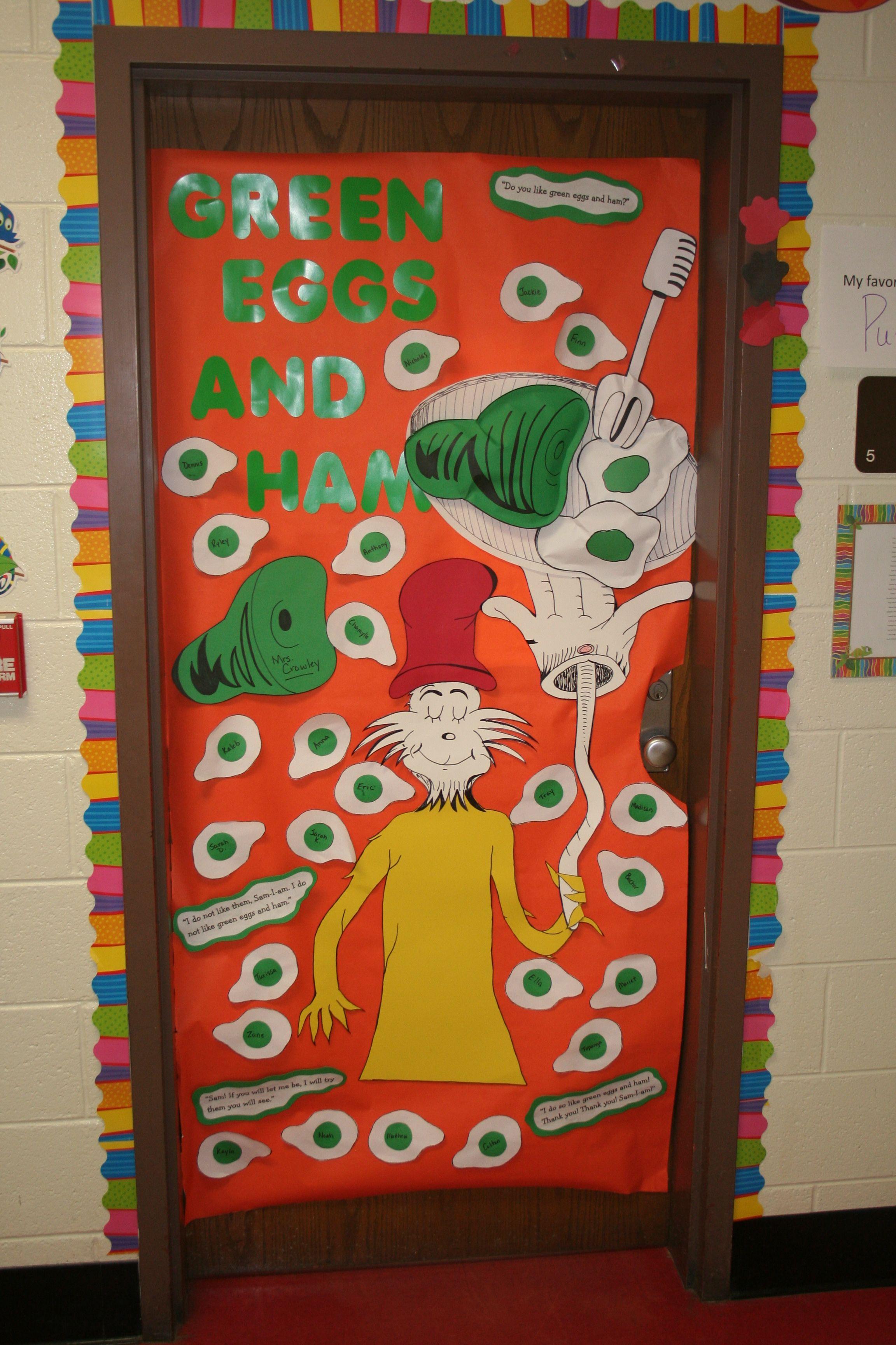 Dr Seuss Teacher Door Green Eggs And Ham Seuss Classroom Dr