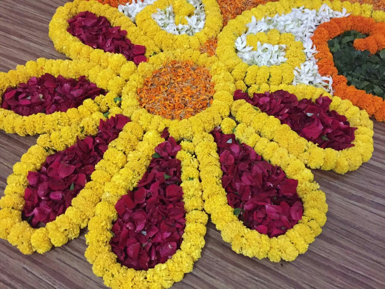 Pin by Kajal Kashyap on flower rangoli Diy diwali