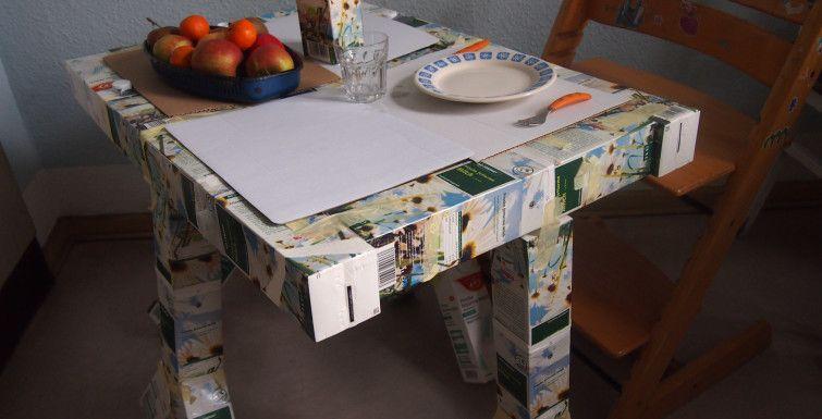 Der Tetrapak-Tisch. Einfach tetra-praktisch!