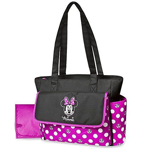 disney minnie mouse diaper bag changing pad polka dots lightweight travel tote baby bottle. Black Bedroom Furniture Sets. Home Design Ideas