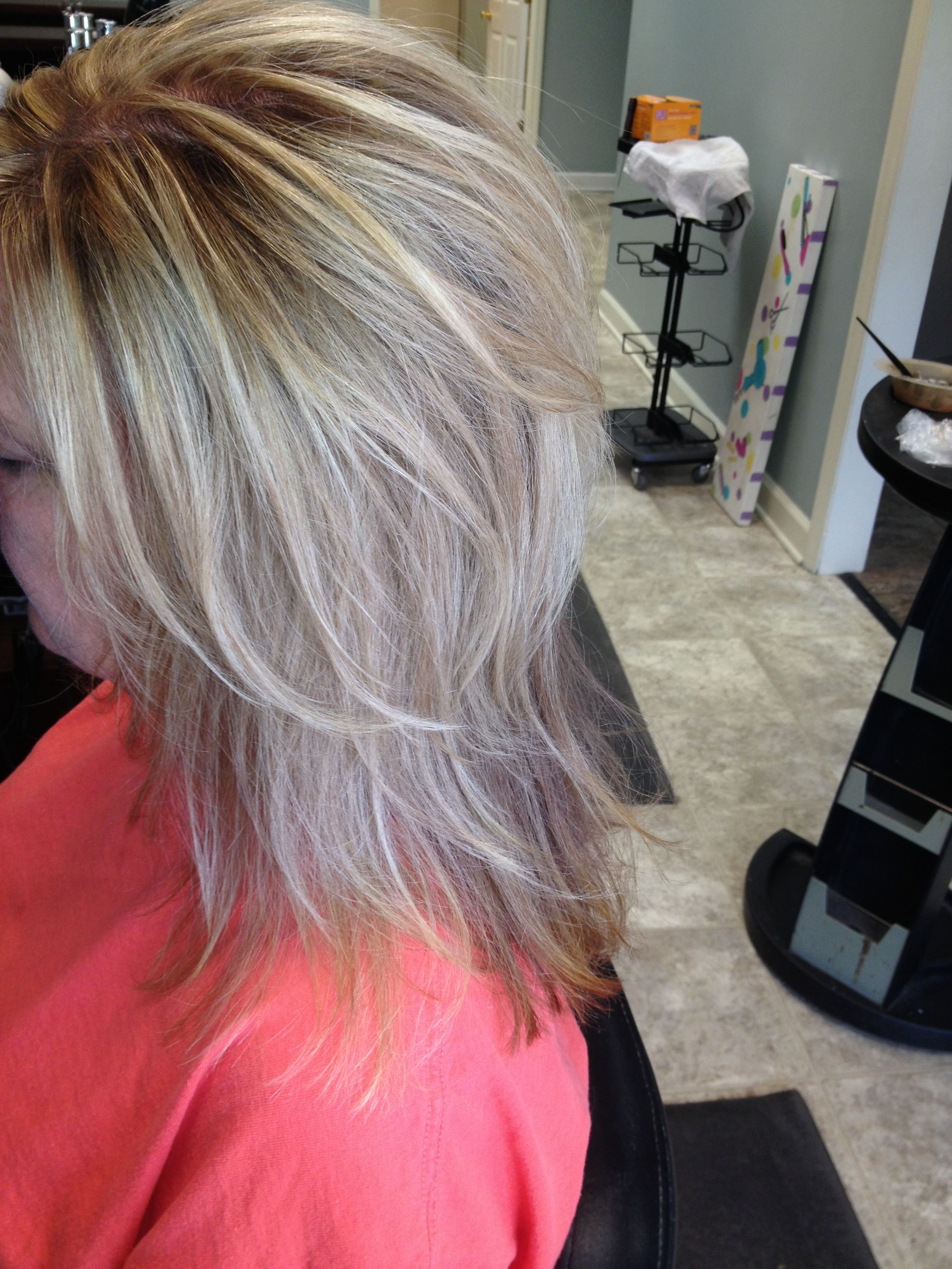Blending gray with blonde hair hnczcyw blending gray with short grey hair with highlights betsy hyman added highlights and lowlights to lynn caulder hair pmusecretfo Choice Image