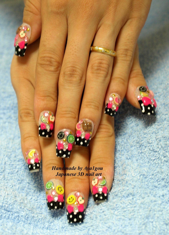 Decora nails, rockabily, novelty, kawaii nails, nail set, 3D nails ...