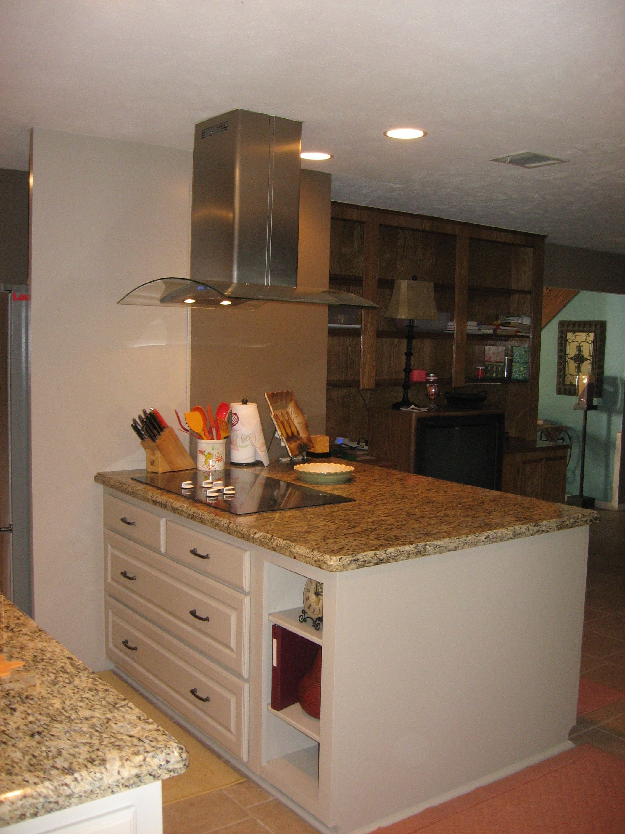 Kitchen Remodel After Removing Load Bearing Wall And Installing A Power Beam To Open Up Kitchen