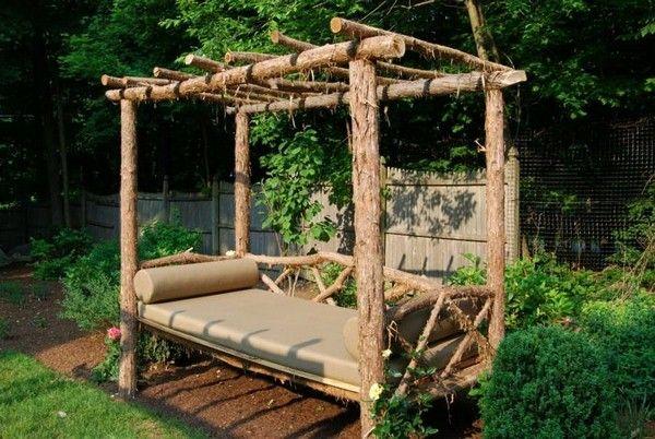 bois bricolage mobilier de jardin rustique idée d\'une chaise ...
