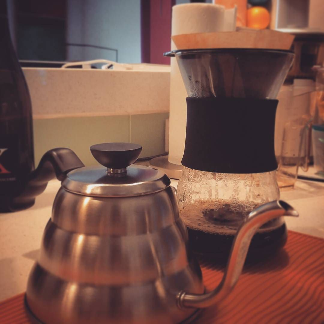 #espressobuff trying out my skills at making  #pourover #coffee. #delicious #hario #v60. Will they take my Italian passport away? #traitor http://ift.tt/20b7VYo