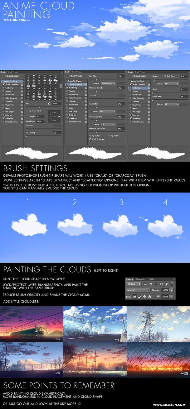 Here are the brush settings I use for painting anime style