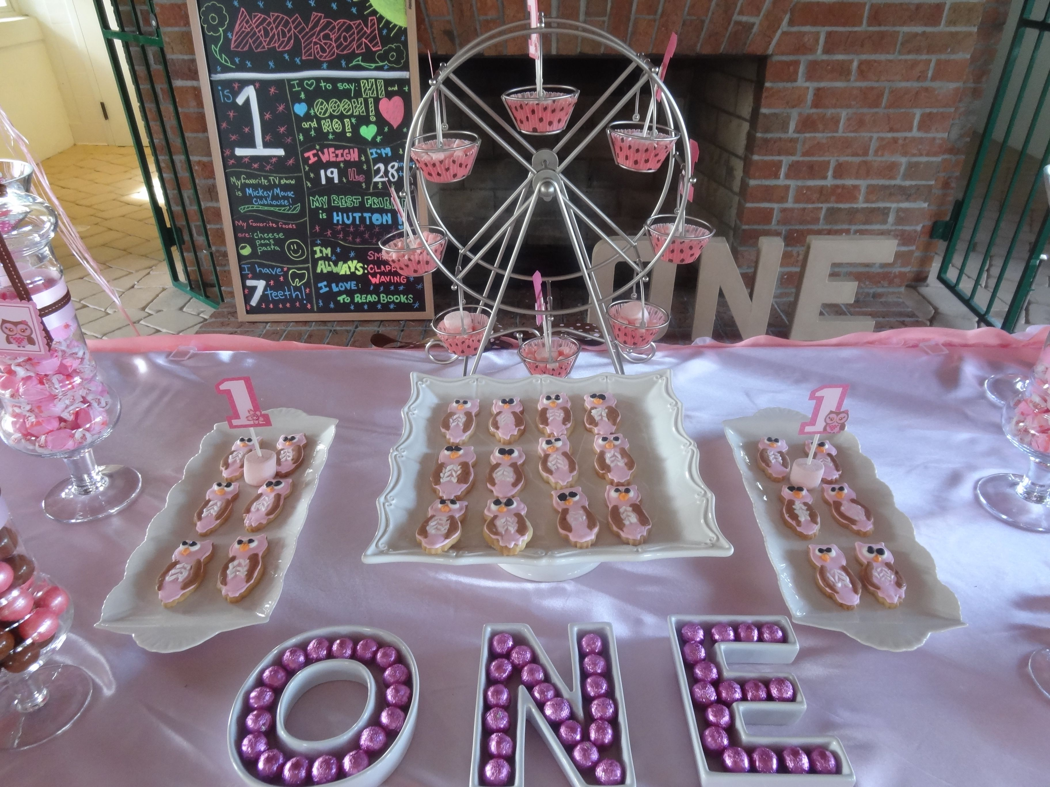 Baby S First Birthday Candy Buffet Candy Buffet Birthday Candy Buffet Birthday Candy