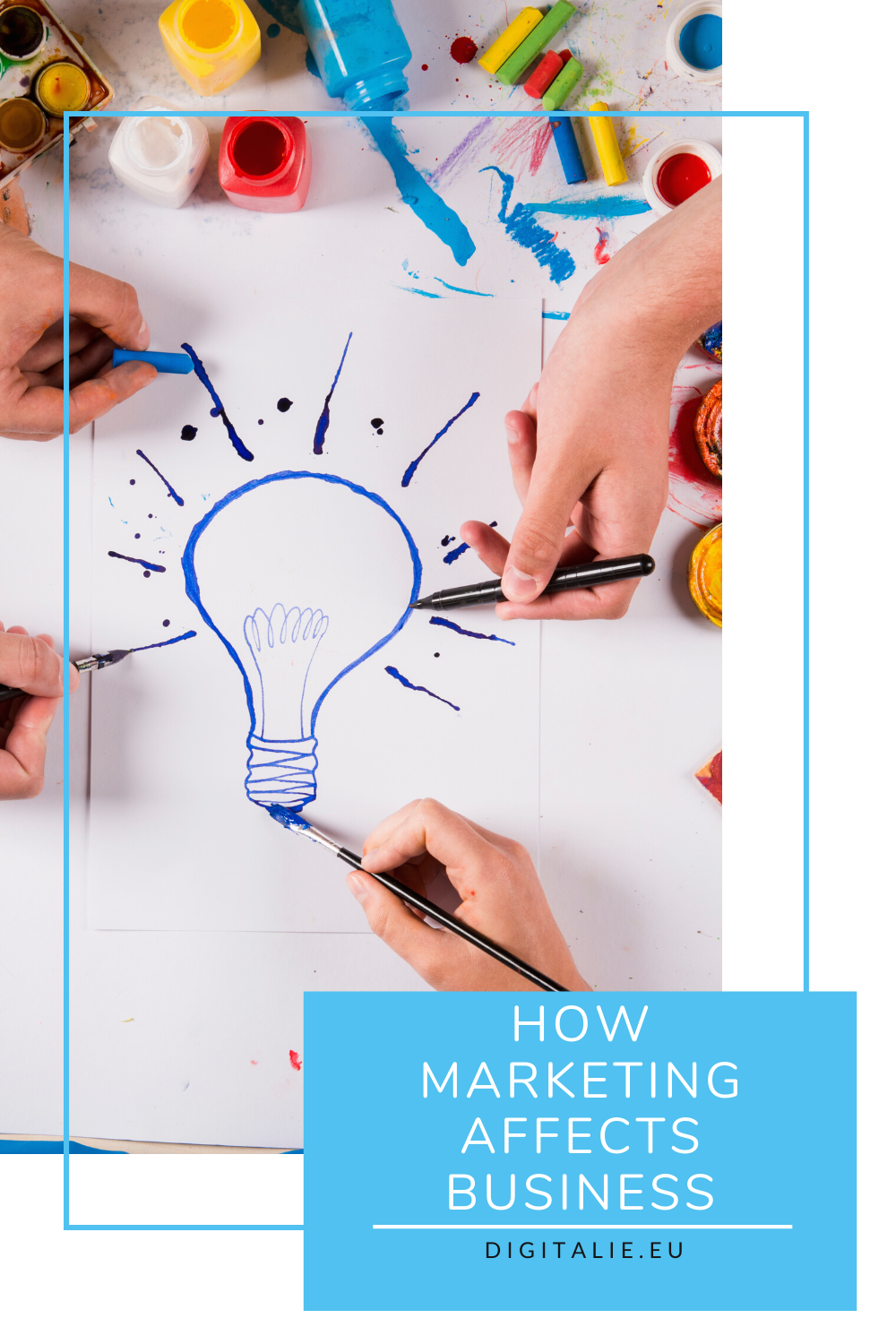 Marketing is like Paint by Numbers. Your business gives you the lines and numbers but it is up to you to use your creativity and your personality to make it into your own work of art.   #creativemarketing #creativity #businessbuilding #digitalie