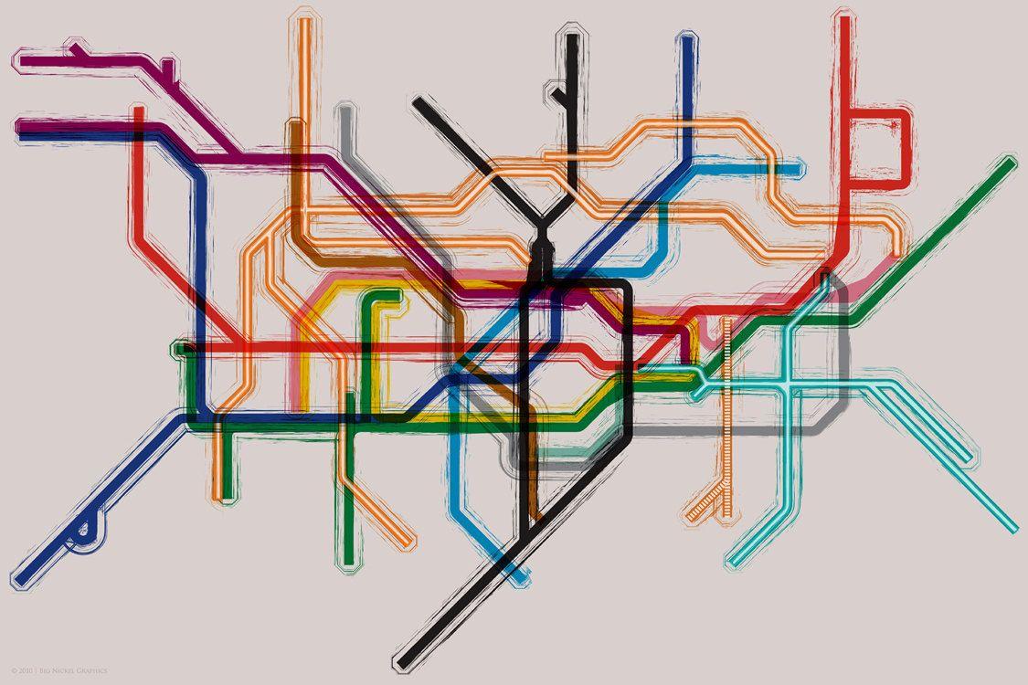London Tube Underground Map Gallery Wrap Canvas 14x10 London