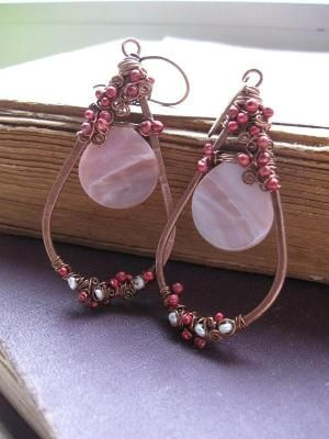 Nature Inspired Copper Earrings by Jersica