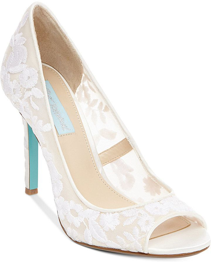 46726cfa8bdc Blue by Betsey Johnson Adley Embroidered Evening Pumps Women s Shoes ...