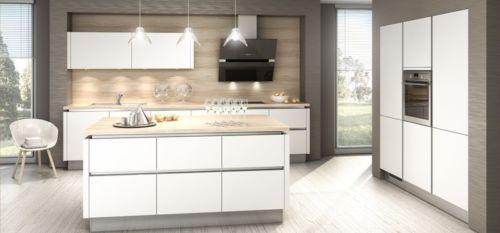 neue insel k che mit highlight ausstattungsuper gloss hochglanz lack kristallwei hochwertige. Black Bedroom Furniture Sets. Home Design Ideas