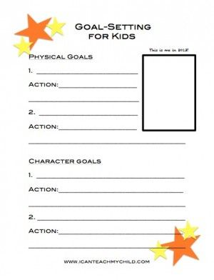 goal setting for kids free printable goal counselling and school. Black Bedroom Furniture Sets. Home Design Ideas
