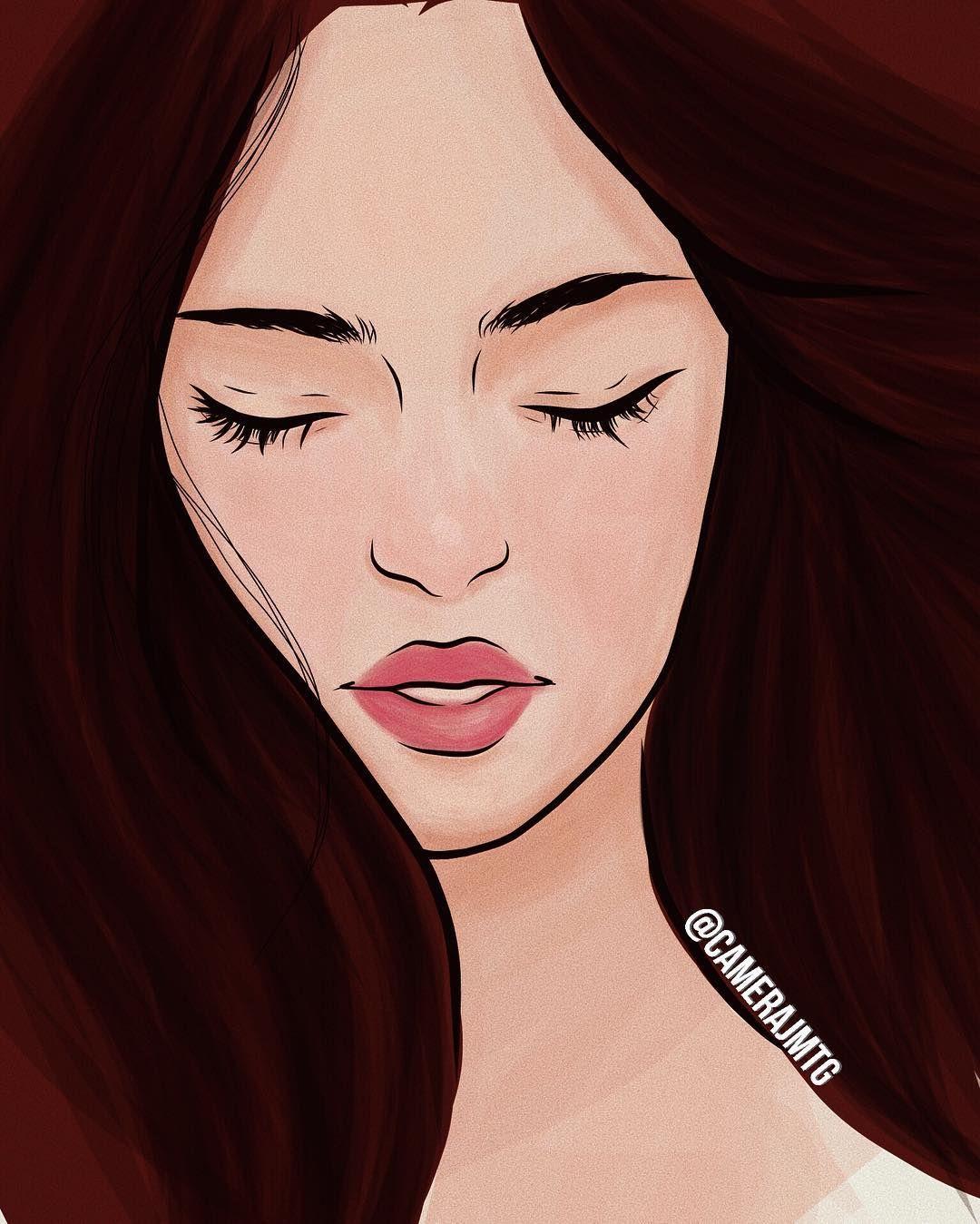 Eyes Girl Hair Lips Outline Outlines Tumblr: #outline #kna #art #work #life #tumblr #girl #girls