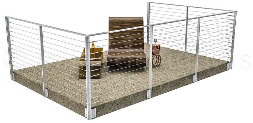 flat bar and wire stair railings - Google Search | Stair ...