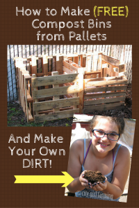 How to Make a (free) Compost Bin from recycled pallets. # ...