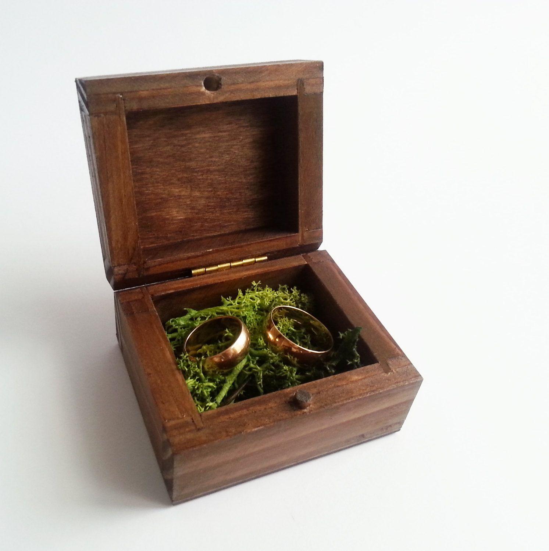 Woodland wedding Wedding rings box engagement ring box wedding