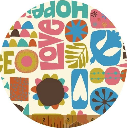 Windham Fabrics, Nod to Mod, Words Multi Fabric is sold by ...