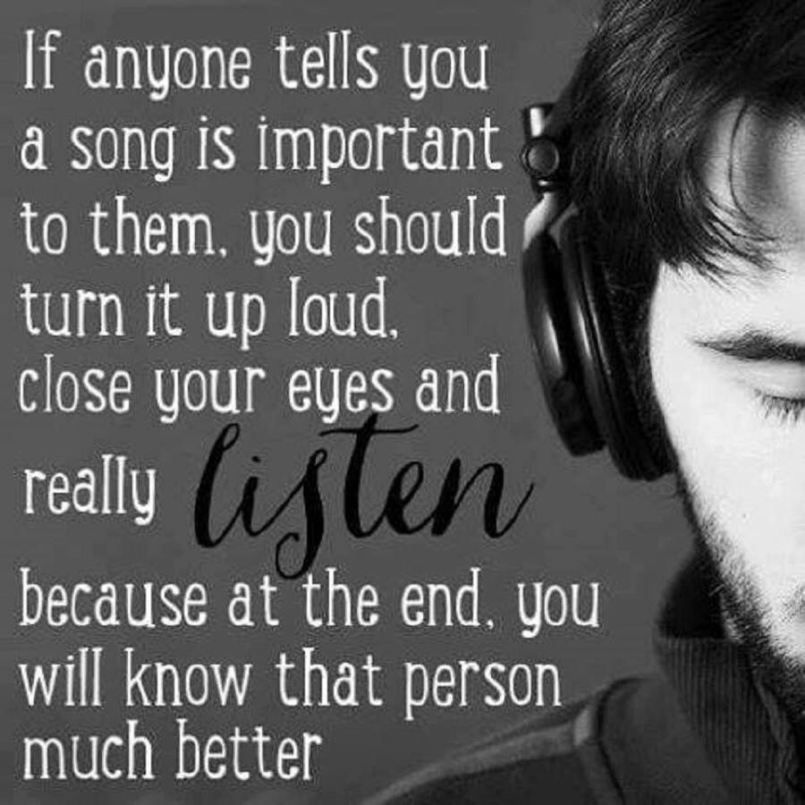 Close your eyes and really listen