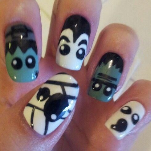 Halloween nail art 10092013 mani mania pinterest halloween nail art 10092013 prinsesfo Choice Image