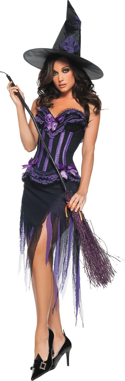 Adult Purple Carousel Witch Costume - Party City | elegantly ...