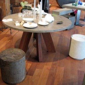 Attirant Concrete Furniture | Wood U0026 Steel Design | Sonoma County Art , Cone Table