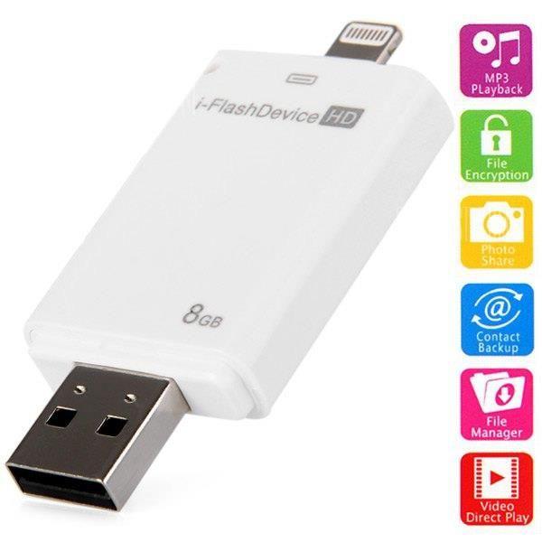 High Speed 8GB i - Flash Drive HD USB2.0 Flash Memory U Disk for iPhone iPad Desktop Laptop...
