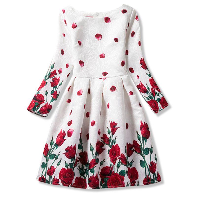 Gunstige Herbst Jugendliche Madchen Kleider Fur Kind Blume Langarm Formale Madchen Kleider Jugendliche Party Kids Dress Girls Formal Dresses Baby Girl Dresses
