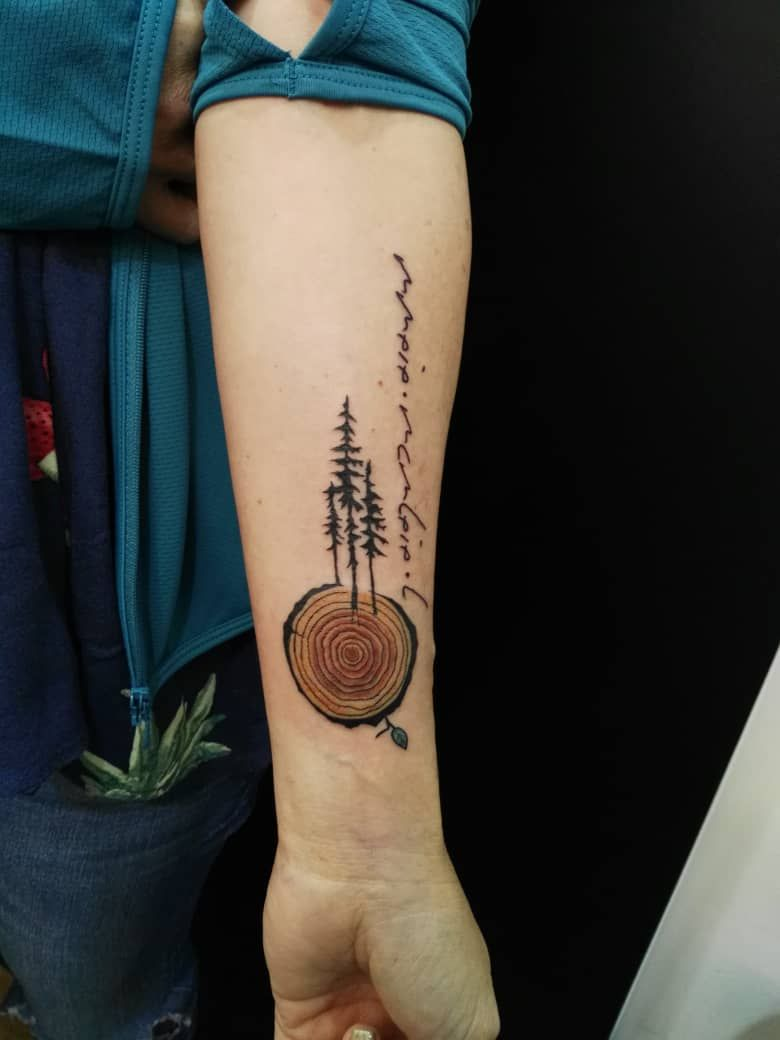 Tree Rings Tattoo : rings, tattoo