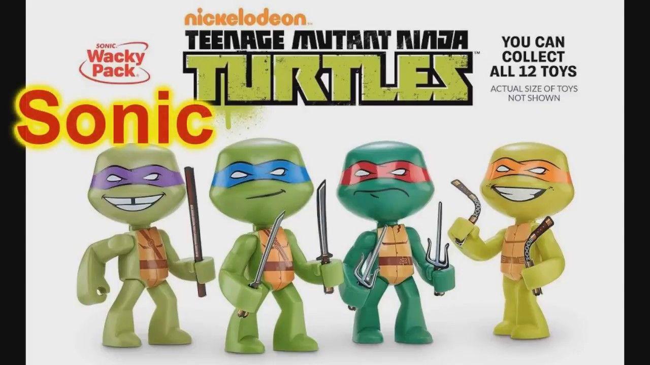 2017 Sonic Wacky Pack Kids Meal Toys Teenage Mutant Ninja Turtles