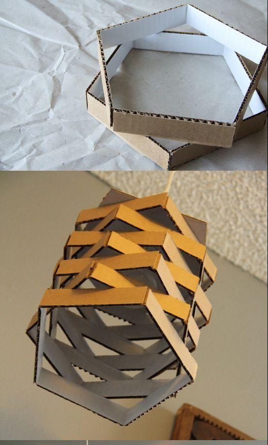 Creadas Cartón a Partir de Diseños Lámparas Reciclado de iTwZlOPukX