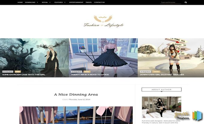 Lifestyle Fashion Blogger Template Blogger Themes Free Blogspot - fashion blogger templates