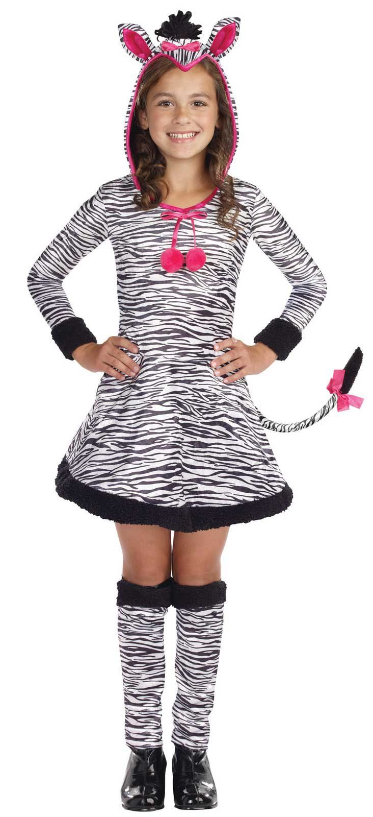 Lil' Wild Thang Zebra Child Costume from
