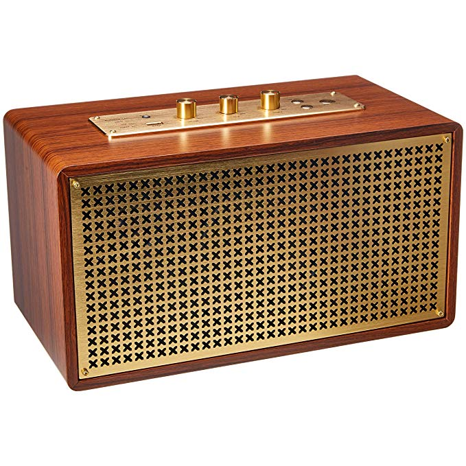 Amazon Com Amazonbasics Vintage Retro Bluetooth Speaker