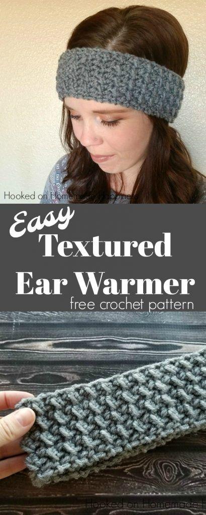 Easy Textured Ear Warmer Crochet Pattern | Mütze, Schals und Häkeln