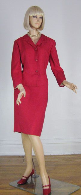 vintage Cherry dress red