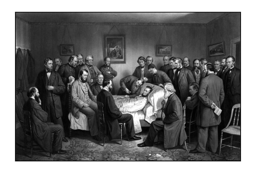 President Lincoln's Deathbed Drawing by War Is Hell Store