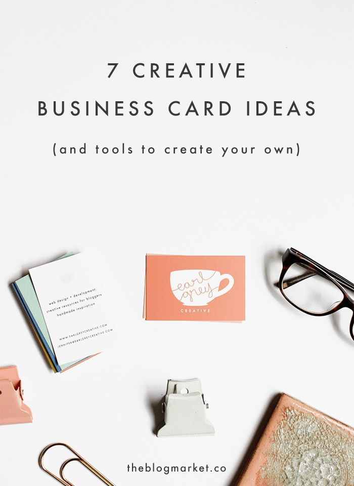 7 Creative Business Card Ideas + Tools to Create Your Own (The Blog ...