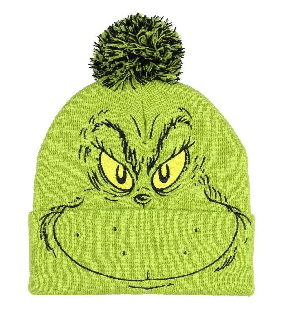 5fe305762ce Dr. Seuss The Grinch Who Stole Christmas Pom Beanie Cuff Hat  Bioworld   Beanie