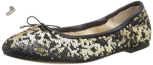 Sam Edelman Women's Felicia Pure Gold Twiggy Sequins Flat - Sam edelman  flats for women (