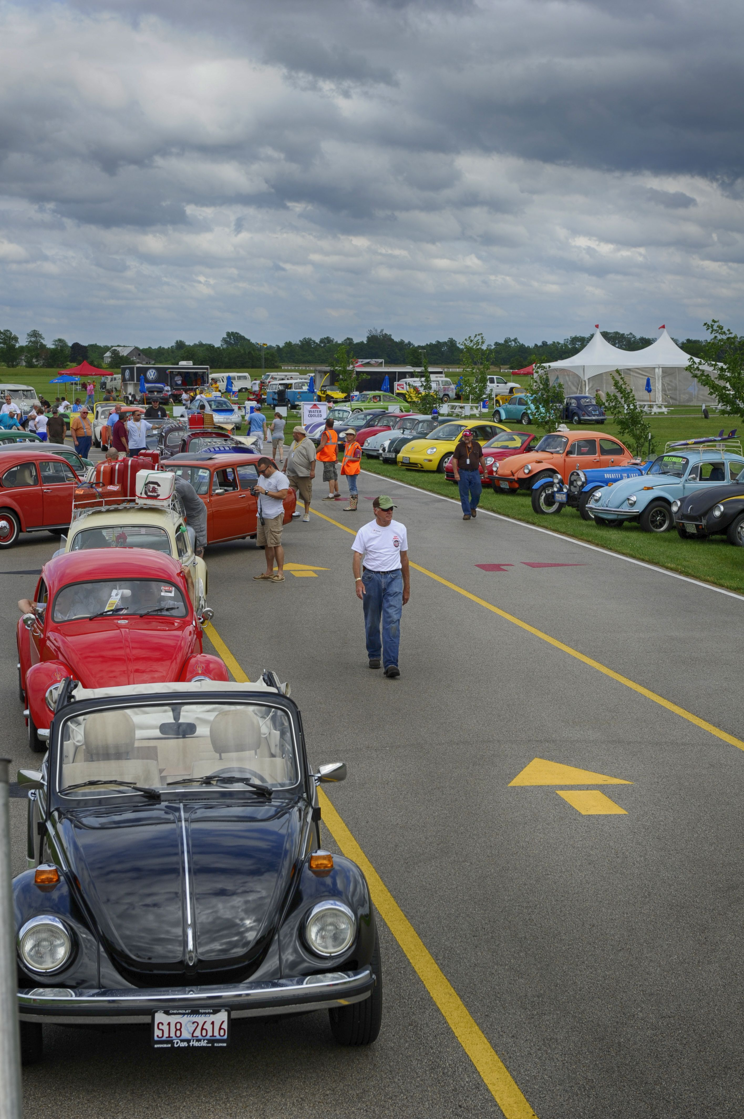 Air Cooled Volkswagens line up for the start of the Fun Run at