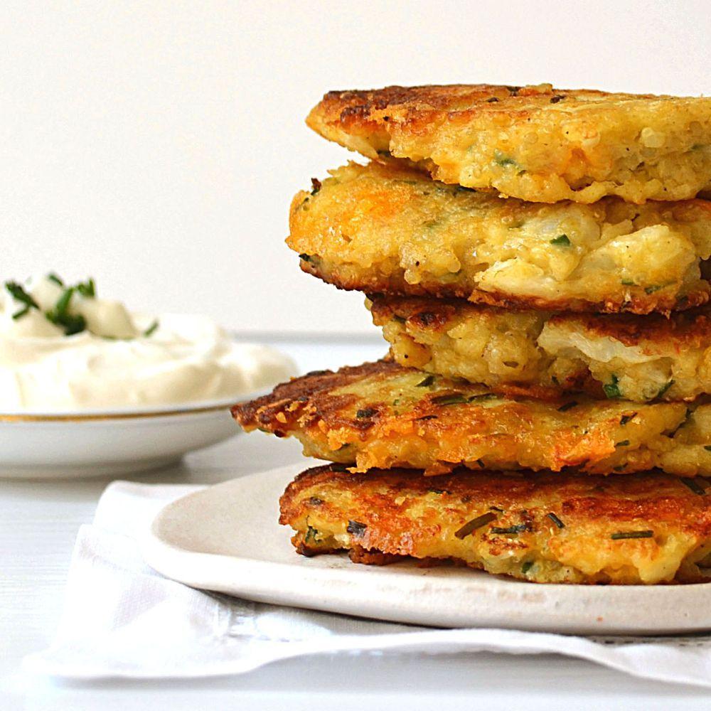 Cauliflower Cheddar Quinoa Fritters Recipe on Food52 ...