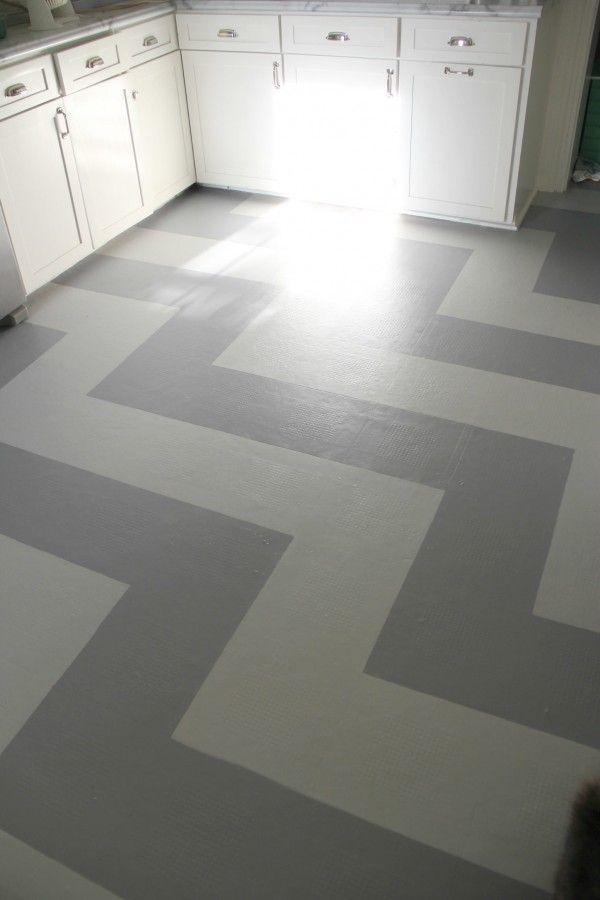 painted vinyl kitchen floor