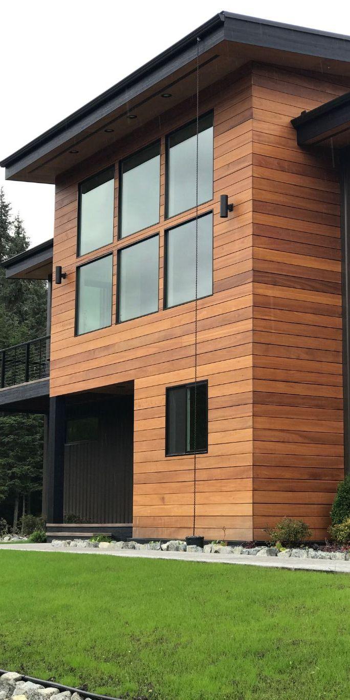 Nova batu real wood siding creates the beautiful look of this alaskan cabin