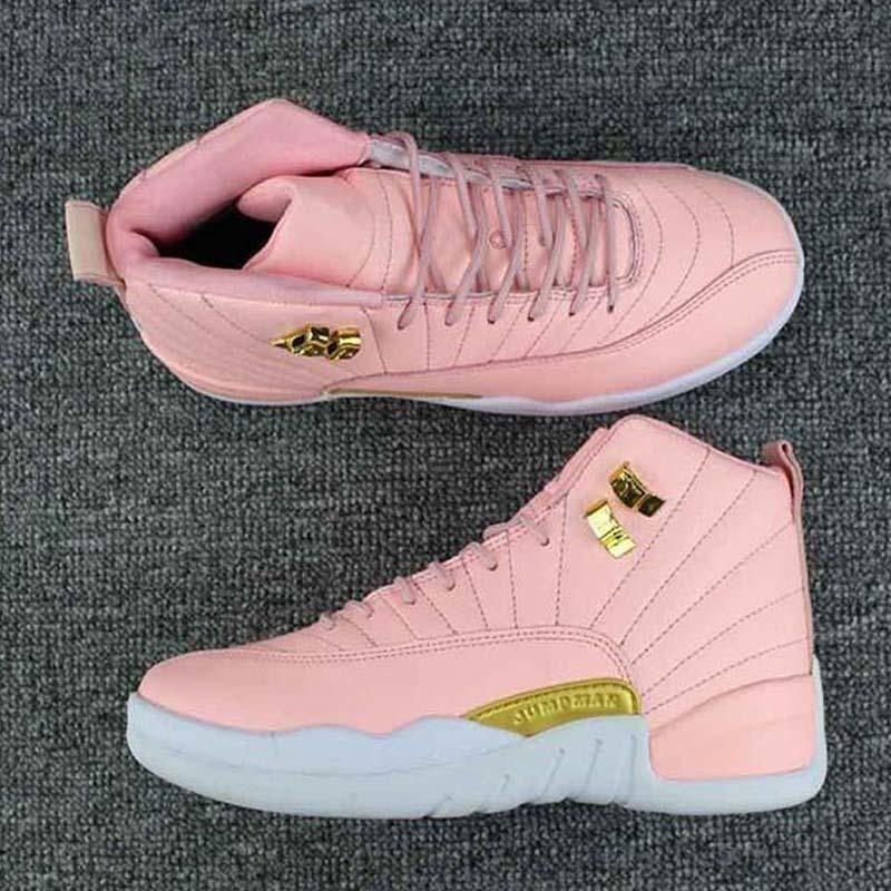 2019 New Jumpman 12 Womens GS Pink Lemonade Outdoor Shoes Girls ...