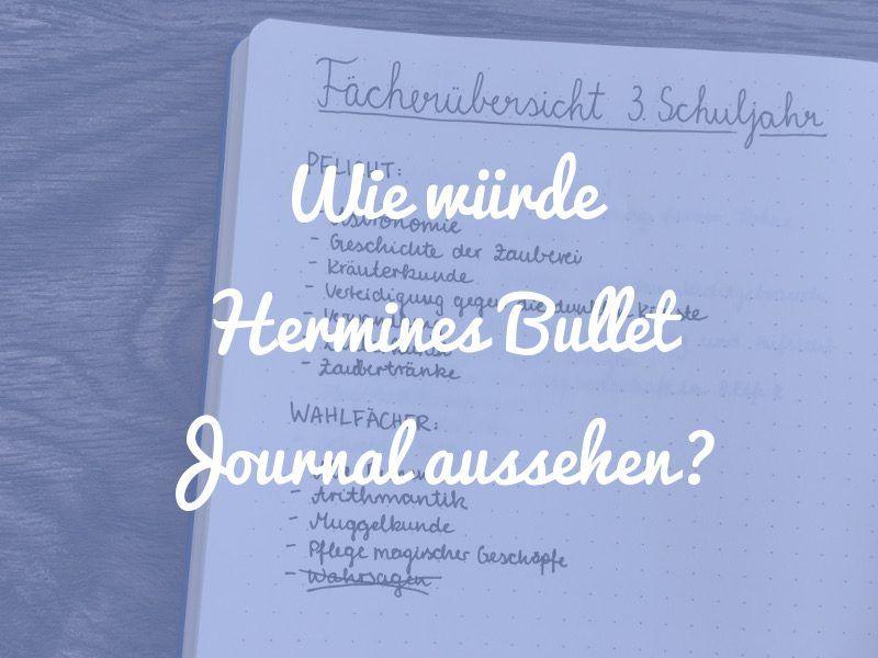 Wie Wurde Das Bullet Journal Von Hermine Aussehen Punktkariert Bullet Journal Journal Hermine
