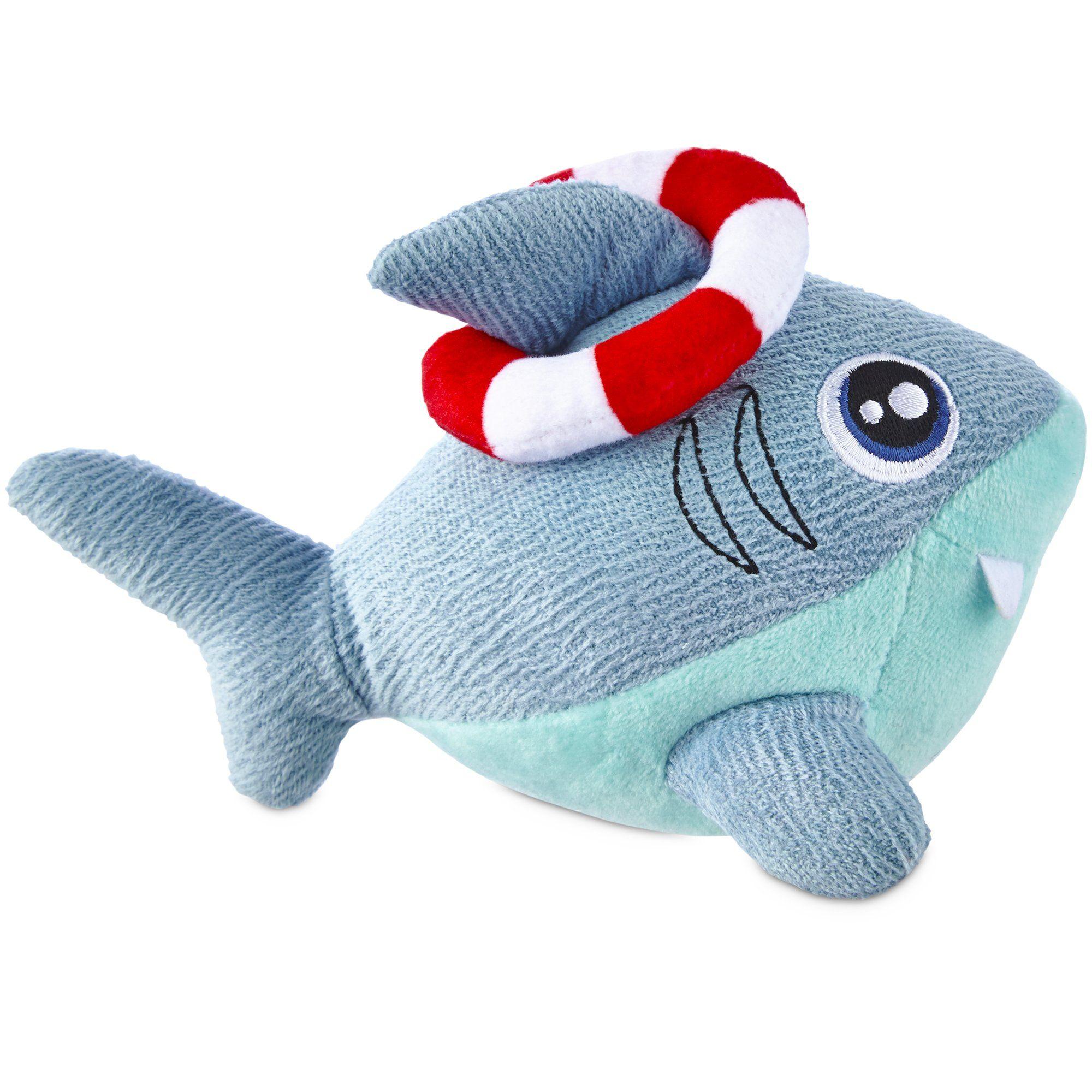 Seaside Summer Freezable Shark Dog Toy 6 Dog Toys Dog Chew
