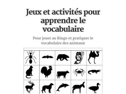 Jeux et activités pour apprendre le vocabulaire d´une manère facile et  amusante
