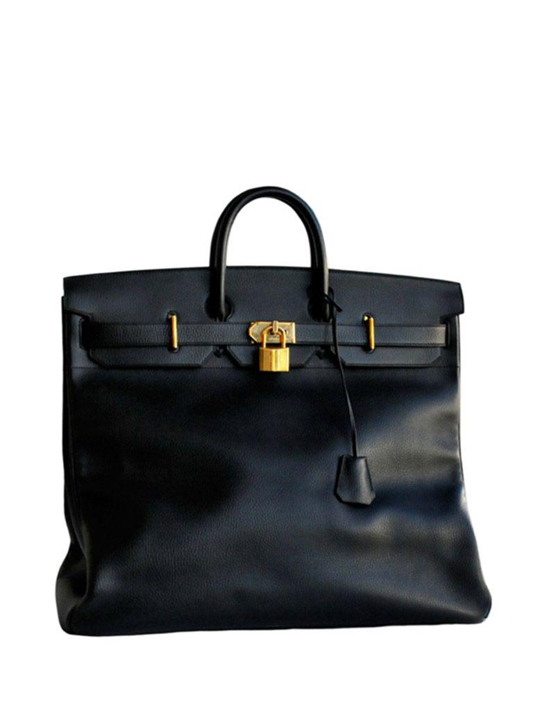 5d4b5d3457d4 Black ardennes leather 55cm Hermes Hac bag with gold hardware ...